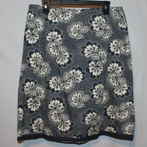 Boden Skirt Floral Womens Plus 14